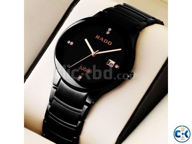 Rado Centrix Jubil Watch Full Black | ClickBD large image 0