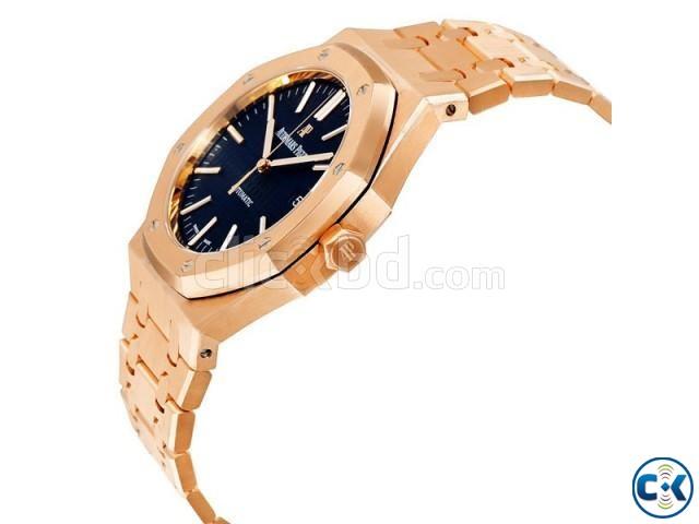 Audemars Piguet 15400 Royal Oak Selfwinding Rose Black Watch | ClickBD large image 0