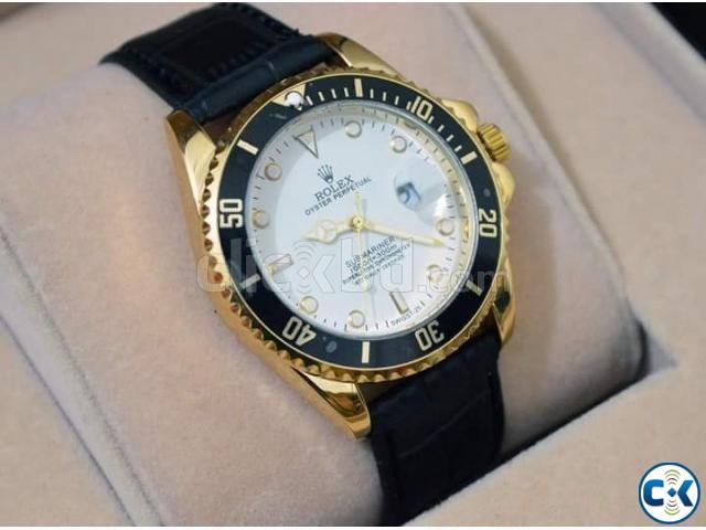 Rolex Bazel with Black Leather Strap | ClickBD large image 0