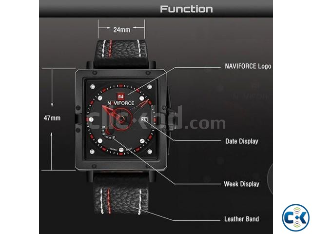 NAVIFORCE NF9065M True Combination of Red and Black Watch | ClickBD large image 0