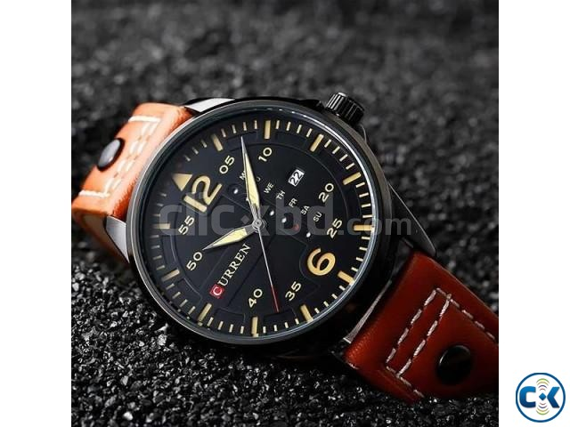 Curren 8224 Men Leather Strap | ClickBD large image 0