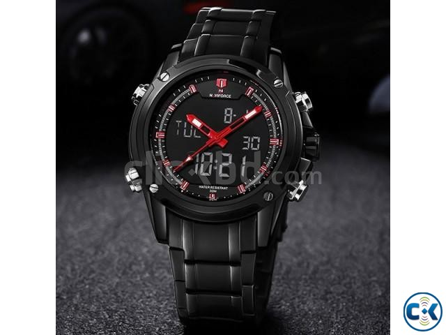 NAVIFORCE 9050 Full Steel Military Sport Watch | ClickBD large image 0