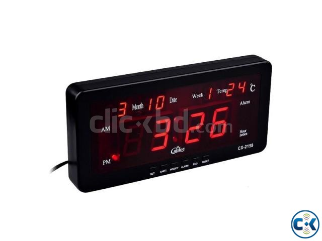 CASIO CX-2158 Digital LED Alarm Clock | ClickBD large image 0