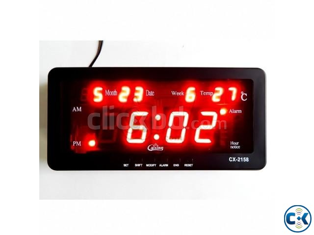 CASIO CX-2158 Digital LED Alarm Clock | ClickBD large image 1