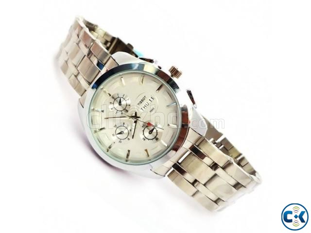 Tissot Day and Date Silver Watch | ClickBD large image 0