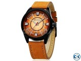 Curren Light Brown Date Just Watch