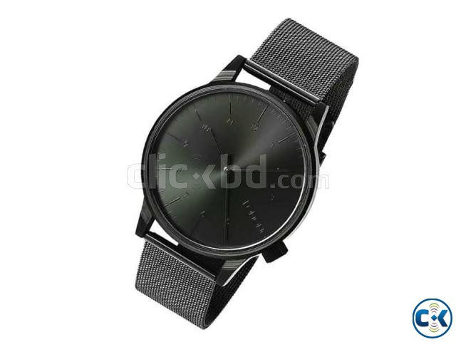 Komono Pure Black Dial With Black Chain Wrist Watch | ClickBD large image 0
