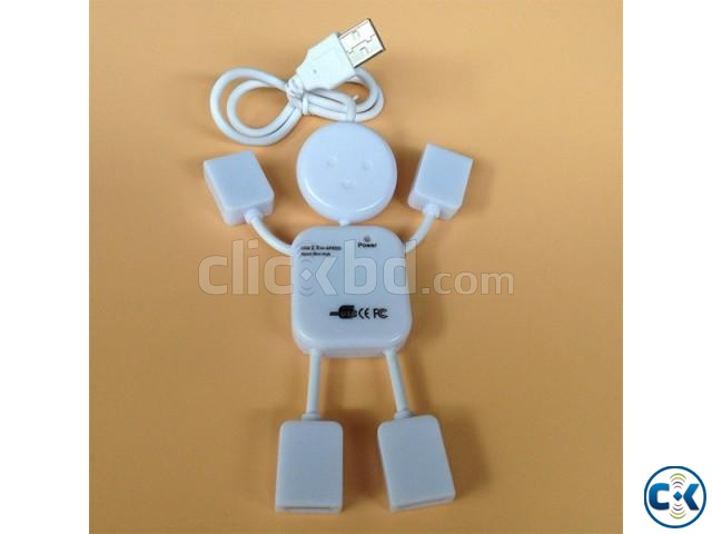 Man Shape 4 Ports USB 2.0 HUB | ClickBD large image 0