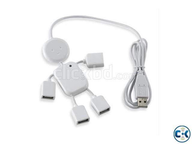 Man Shape 4 Ports USB 2.0 HUB | ClickBD large image 2