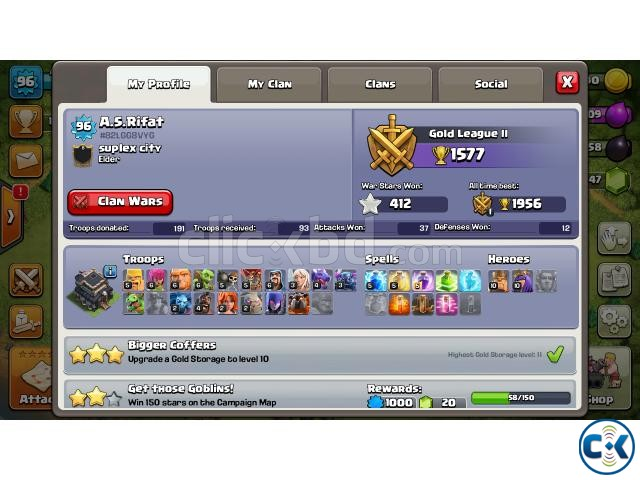 Clash of Clans semi max Th9 | ClickBD large image 0