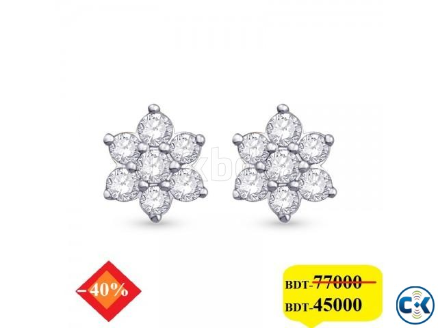 Diamond with White Gold Earring | ClickBD large image 0