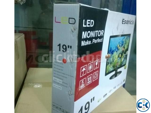 Esonic 19 Inch 1366 x 768 Wide Screen HD LED Monitor | ClickBD large image 0