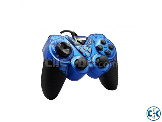 Double Shock USB Game Pad With Joystick | ClickBD large image 0