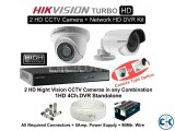 4 PCS. HIK VISION CCTV CAMERA DVR 4 CH