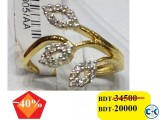 Diamond with Gold Ladies Ring