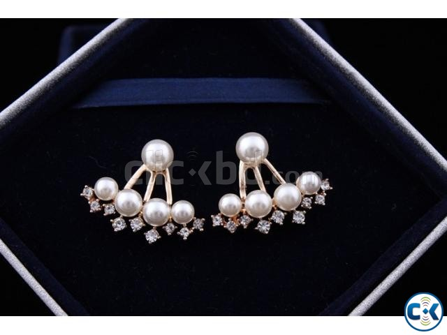 ER066 Gold Plated Pearl Earrings | ClickBD large image 0