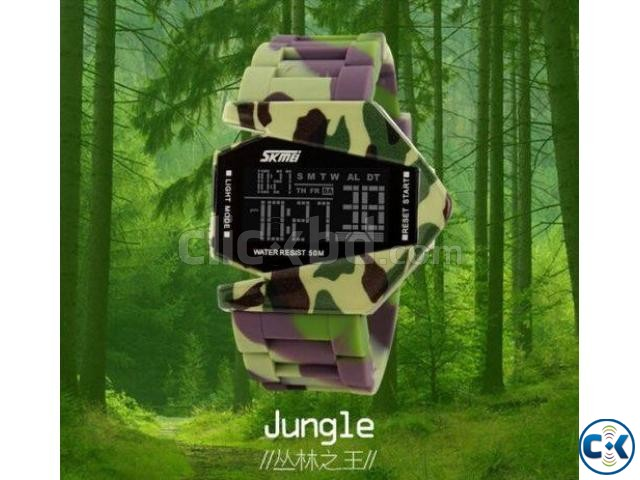 Multi-Color Stealth Fighter Watch Army Design  | ClickBD large image 0
