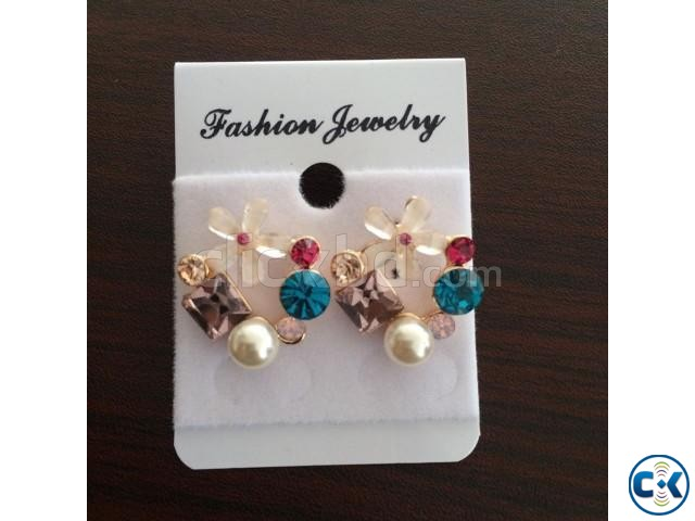 ER040 Gold Plated Earring | ClickBD large image 1