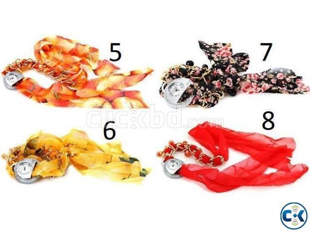 Beautiful Female Silk Bracelet Watch Black | ClickBD large image 0