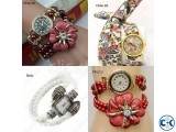 Awesome Red Color pearl Ladies Watch