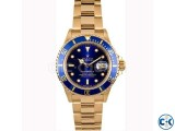Rolex Blue Dialer with Golden Chain