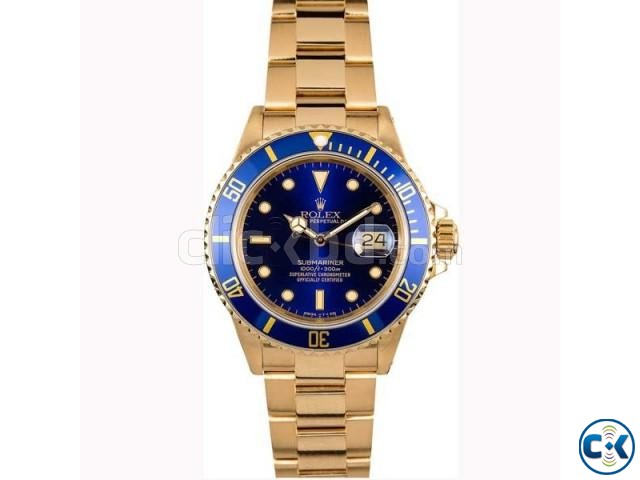 Rolex Blue Dialer with Golden Chain | ClickBD large image 0