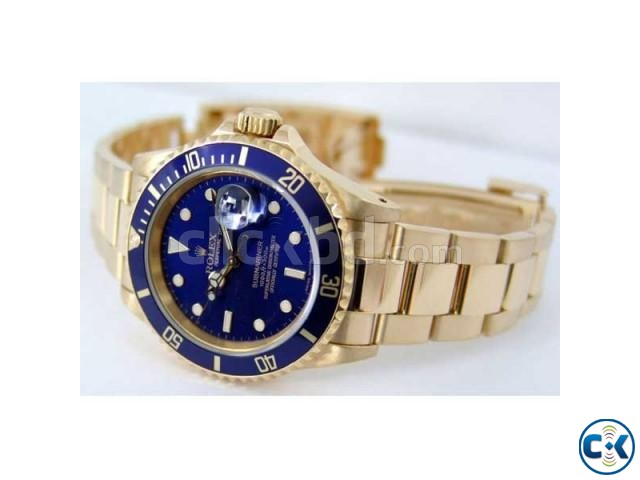 Rolex Blue Dialer with Golden Chain | ClickBD large image 1