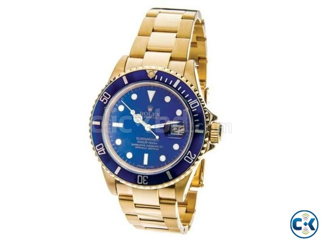 Rolex Blue Dialer with Golden Chain | ClickBD large image 2