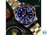 Rolex Oyster Chain with Blue Dialer