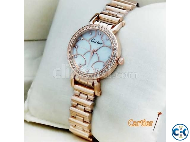 Cartier White Dial Women s Wrist Watch | ClickBD large image 0