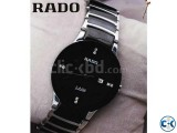 Rado Jubile Black Dial silver Chain Watch