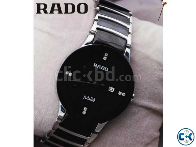 Rado Jubile Black Dial silver Chain Watch | ClickBD large image 0