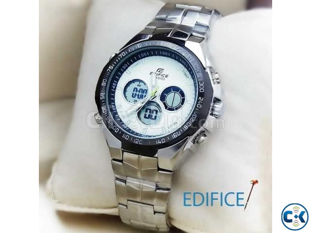 EDIFICE MENS WRIST WATCH WHITE DIAL | ClickBD large image 0