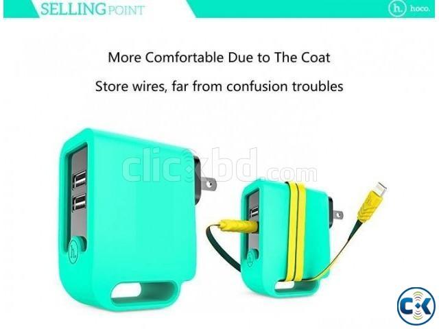 HOCO UH203 3.4A Dual USB Plug Intelligent | ClickBD large image 0