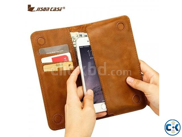 Jisoncase Quality Handmade Bifold Leather Wallet | ClickBD large image 0
