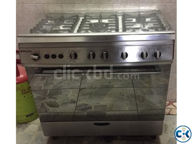 5 burner gas stove with gas oven | ClickBD large image 0