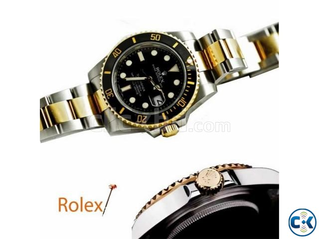 ROLEX SUBMARINER MENS WATCH WITH DATE FUNCTION BLACK DIALER | ClickBD large image 0