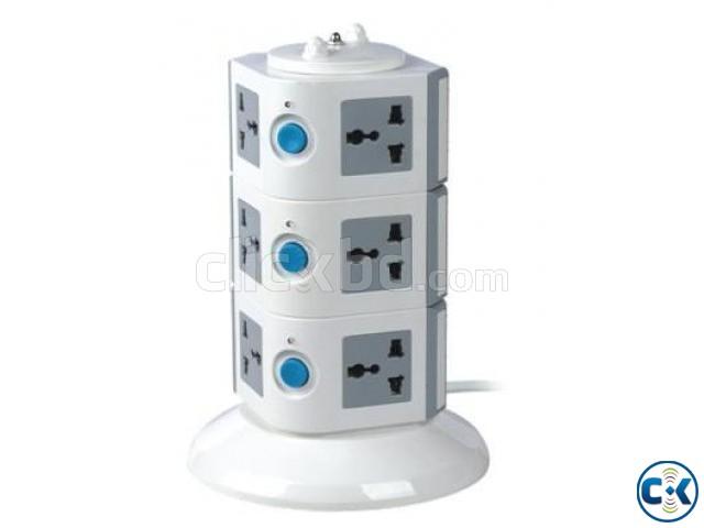 3 Level Multi Plug Socket With USB Port | ClickBD large image 0