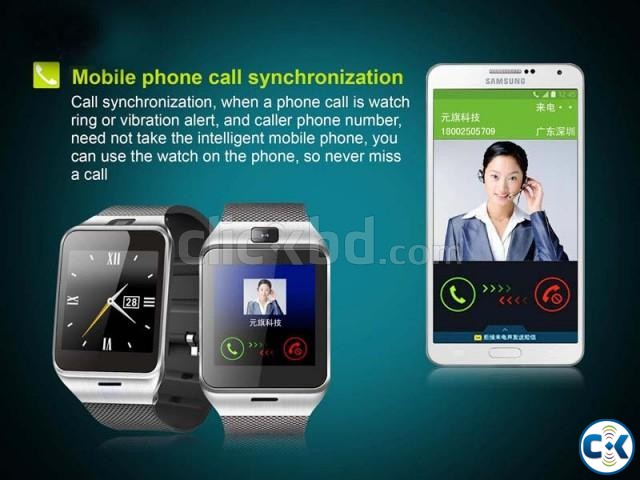 Smart watch phone with Camera QUHH315997  | ClickBD large image 4