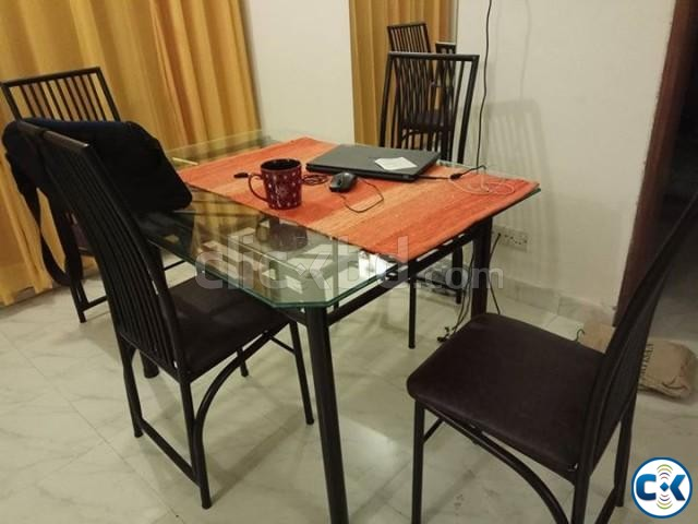 Dining table with four chairs | ClickBD large image 2