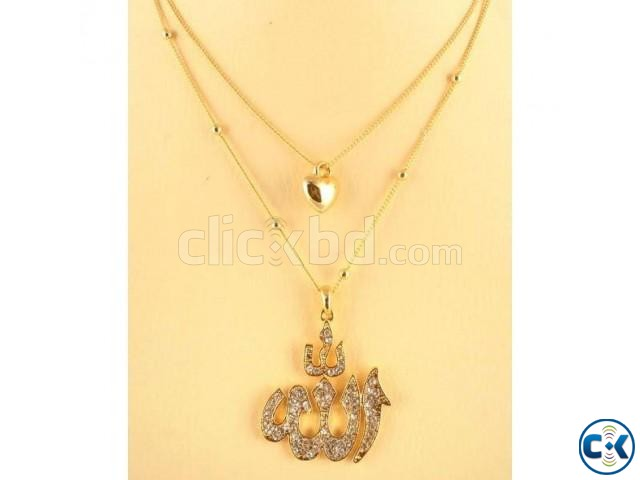 Women s Stone Crafted Necklace - Gold | ClickBD large image 0