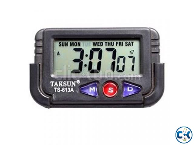Taksun Quartz LCD Clock Stopwatch-C 0163  | ClickBD large image 0
