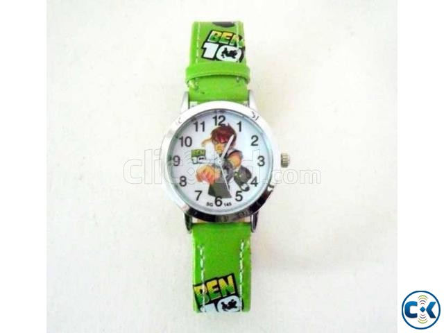 Ben 10 Theme Kids Watch Parrot Green  | ClickBD large image 0