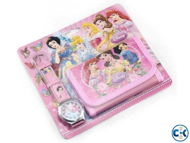 Disney Princes Kids Watch with Bag | ClickBD large image 0