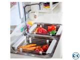 Kitchen Sink Vegetables Storage Washing Rack