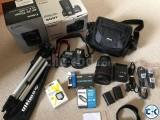 Complete Canon 80D DSLR camera.