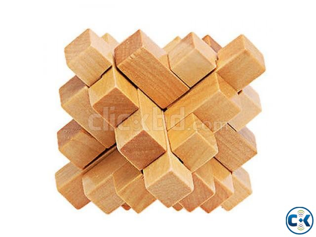STAR Wooden Cube Puzzle | ClickBD large image 0
