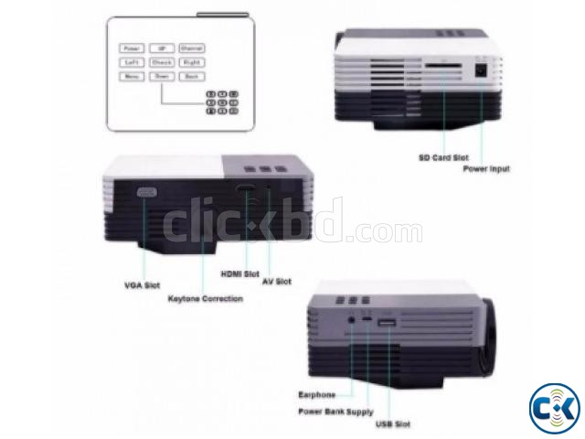 MINI MULTIMEDIA LED PROJECTOR 150 LUMENS  | ClickBD large image 1