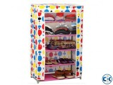 Portable Shoe Rack Wardrobe with Cover