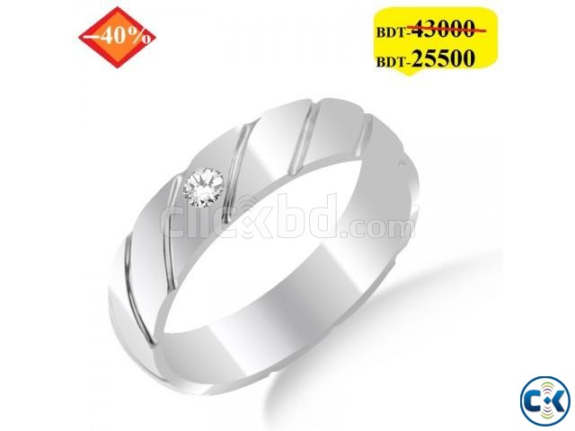 Diamond with white Gold Ladies Ring | ClickBD large image 0